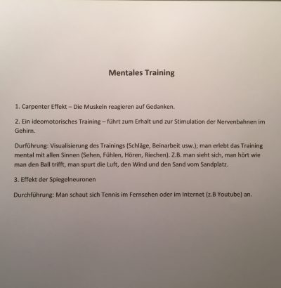 Mentales Training (Carpenter Effekt)
